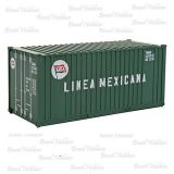 Container Walthers 20 Pés Ribbed-Side Linea Mexicana - WAL-8008