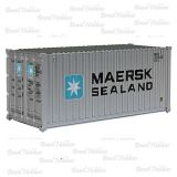 Container Walthers 20 Pés Corrugated Maersk-Sealand - WAL-8051