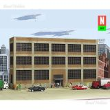 Escala N - Variety Printing - Background Buildings - Kit para Montar - Somente Fachada - Medidas: 189 x 41 mm - WAL-3252