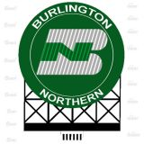 Luminoso Burlington Northern - Medidas: 95 L x 105 h mm - MIL-880701