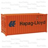 Container Walthers 20 Pés Corrugated Hapag Lloyd - WAL-8055