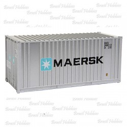 Container Walthers 20 Pés Ribbed-Side Maersk - WAL-8001  - foto principal 1