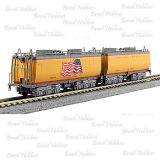 Escala N - Vagão Tender de Agua Union Pacific (2) #809 Jim Adams (American Flag) e #814 Joe Jordan - KAT-106085