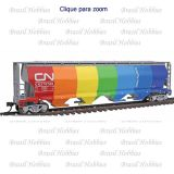 Vagão Bachmann Cylindrical Grain Hopper Canadian National Demonstrator #370708 - BAC-19133