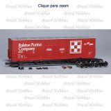 Vagão Scale Trains Evans 5100 RBL Double 8' Plug Door Boxcar Ralston Purina # 135 - Kit para Montar - SXT-1052