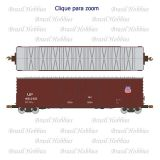 Vagão Scale Trains Evans 5100 RBL Double 8' Plug Door Boxcar Union Pacific # 451255 - Kit para Montar - SXT-1080