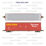 Vagão Scale Trains Evans 5100 RBL Double 8' Plug Door Boxcar Southern Pacific # 662089 - Kit para Montar - SXT-1079