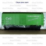 Vagão Accurail 40 Pés AAR Steel Box Car Columbus & Greenville #3705 - Kit para Montar - ACU-8088