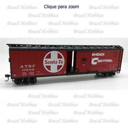 Vagão Roundhouse 50 Pés Single Door Box Car Santa Fe # 1996 - RND-14936  - foto principal 1