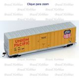 Vagão Roundhouse 50 Pés Hi-Cube Ribbed-Side PD Box Car Union Pacific # 355362 - RND-14935