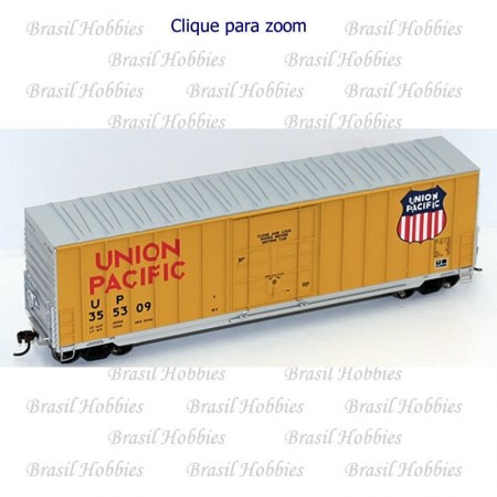 Vagão Roundhouse 50 Pés Hi-Cube Ribbed-Side PD Box Car Union Pacific # 355345 - RND-14934  - foto principal 1