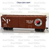 Vagão Bowser 40 Pés Box Car Northern Pacific #8506 Kit para Montar - BOW-60021