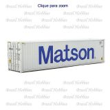 Container Walthers 40 Pés Hi-Cube Corrugated Matson - WAL-8263