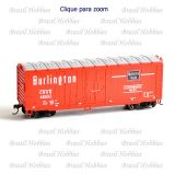 Vagão Roundhouse 40 Pés Grain Box Car Chicago Burlington & Quincy #49507 - RND-14495