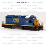 Locomotiva Bachmann SD40-2 CSX  #8840 Dark Blue Analógica (DC)  - BAC-67024