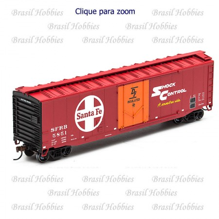 Vagão Roundhouse 50 Pés PD Smooth Side Boxcar SF # 5857 - RND-81454  - foto principal 1