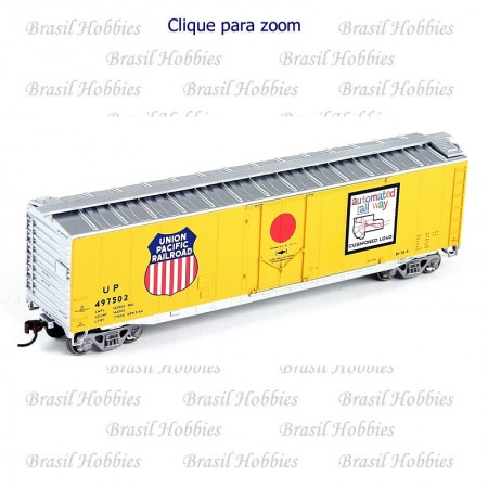 Vagão Roundhouse 50 Pés PD Smooth Side Boxcar UP #497525 - RND-81469  - foto principal 1