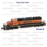 Escala N - Locomotiva Intermountain SD40-2 BNSF # 7835 c/ Som e DCC de Fabrica - INT-69350S-02