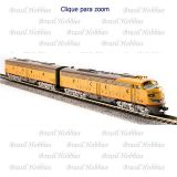 Escala N - Locomotiva EMD E9 AB Set, UP #950A/950B, Yellow & Gray Ambas com Som de DCC - BLI-3628-29