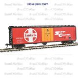 Vagão Walthers 50 Pés PCF Insulated Boxcar Santa Fe #5921 - WAL2801