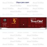 Vagão Accurail 50 Pés Steel Box Car Santa Fe Texas Chief #12683 - ACU-8107-1