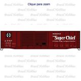 Vagão Accurail 50 Pés Steel Box Car Santa Fe Super Chief #15932 - ACU-8107-2