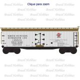 Escala N - Vagão 40 Pés Wood Reefer North Western #6087 - ATL-50003889  - foto 1