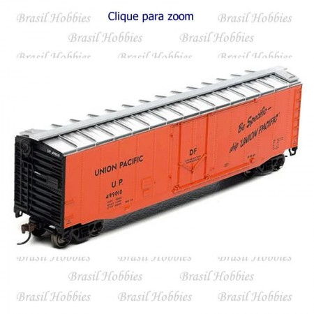 Vagão Roundhouse 50 Pés PD Smooth Side Boxcar Union Pacific #499037 - RND-15735  - foto principal 1