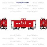 Vagão Roundhouse 4 Window Caboose Central Railroad of New Jwesey #91501 - RND-74245