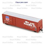 Escala N - Vagão 50 Pés FMC Exterior Post Combination Door Box Car Union Pacific #170444 - ATH-24581