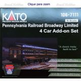 Escala N - Conjunto de 4 Carros de Passageiros Pennsylvania Railroad Broadway Limited - KAT-1067111