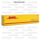 Container Walthers 40 Pés Hi-Cube Corrugated DHL - WAL-8267