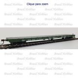 Vagão Athearn 60 Pés Flat Car Burlington Northern #630843 - ATH-92673  - foto 1