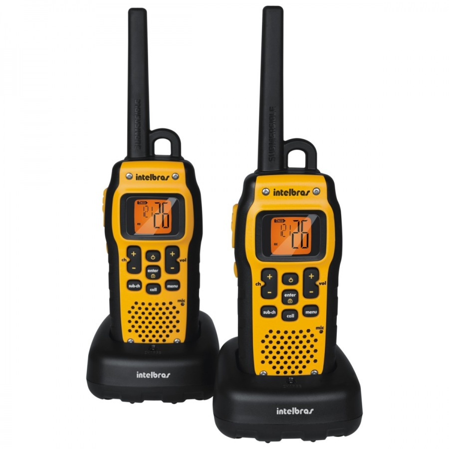 Radio Comunicador Walkie Talkie WATERPROOF Alcance 9,6km - INTELBRÁS