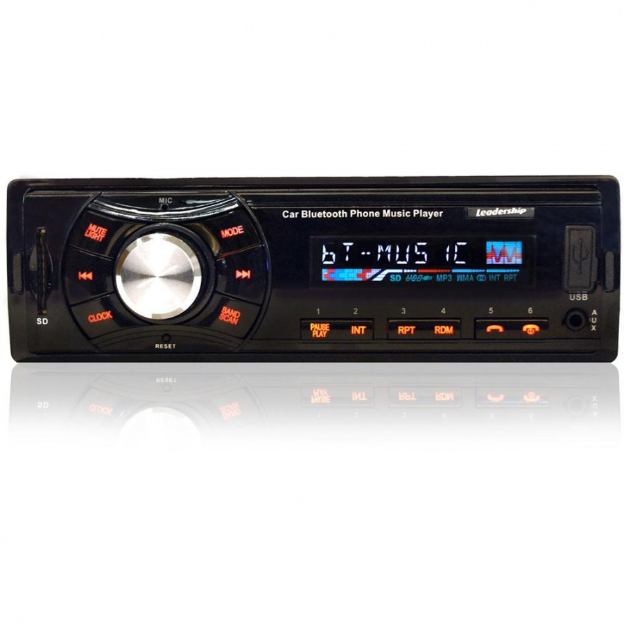 Auto Rádio FM e MP3 Som Automotivo 45W Bluetooth Sensation
