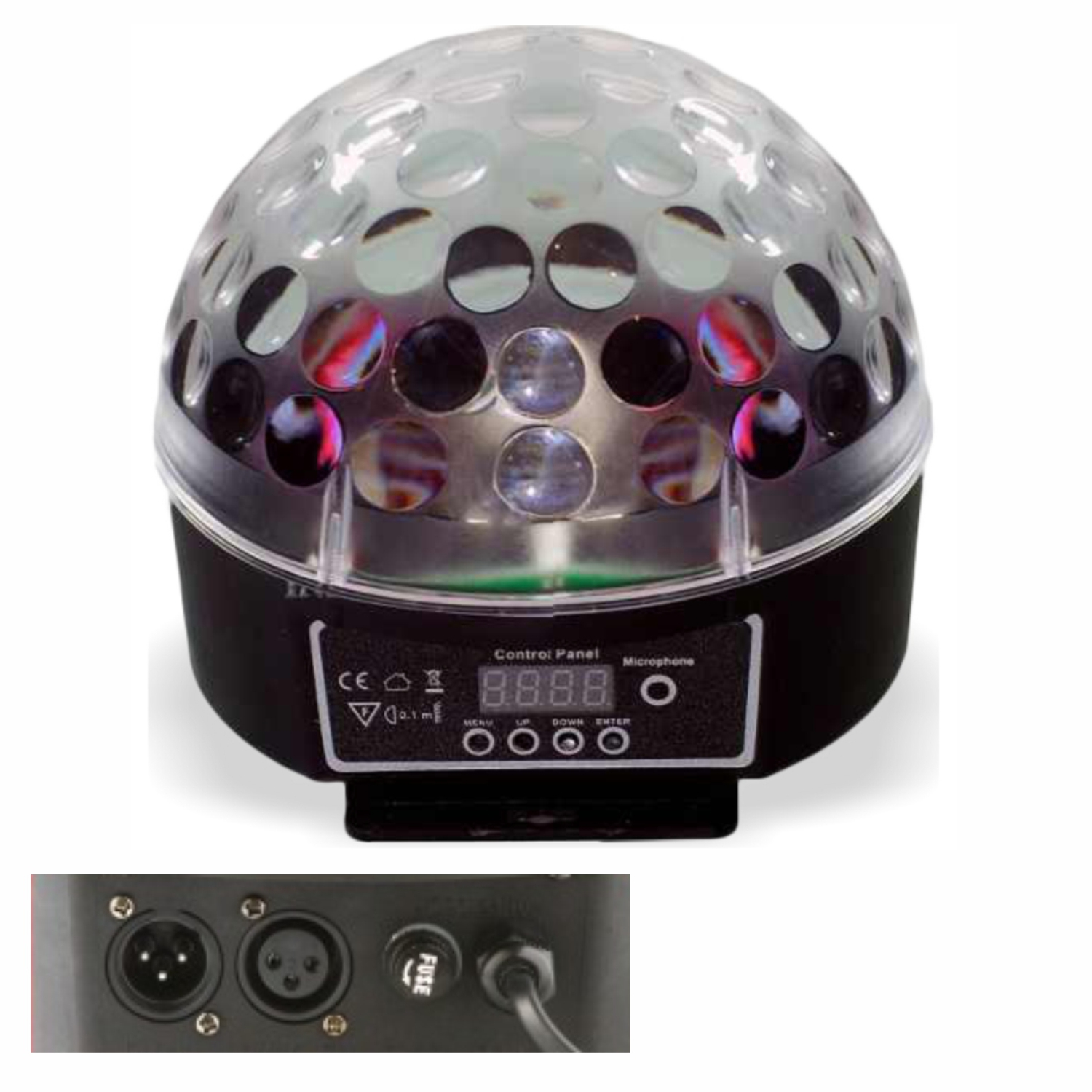 Bola Maluca LED Magic Ball DMX 6 Cores Painel Digital 30 Watts