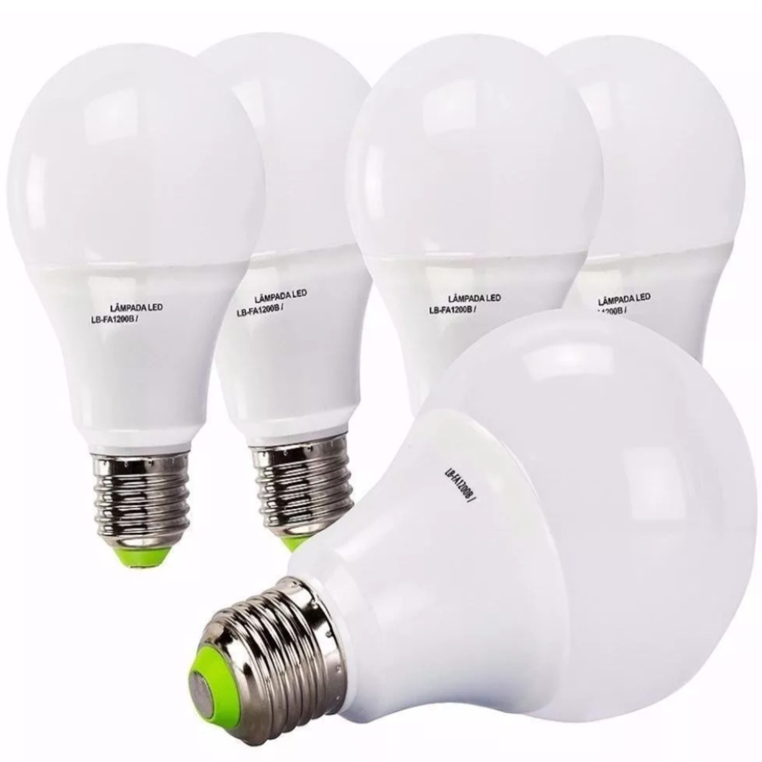 Kit 05 Lâmpadas 9W Bulbo Led Super Branca Bivolt Economica