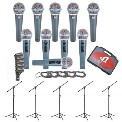 Arcano 5 Mics G58 Kit Tipo Beta58 + 05 Pedestais