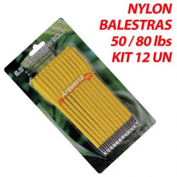 Seta Hoover Nylon Yellow 3.5mm para balestras 50 a 80 lbs kit 12 pçs