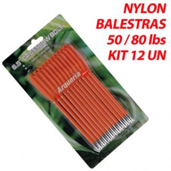 Seta Hoover Nylon Orange 3.5mm para balestras 50 a 80 lbs kit 12 pçs