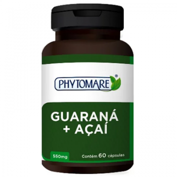 Guaraná e Acaí 550mg 60 CAPS - Phytomare