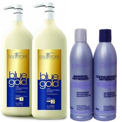 Salvatore Progressiva Blue Gold Sem Formol 2 X 1000ml - Grátis Kit Matizador