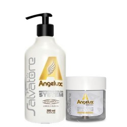 Salvatore Máscara kit Angelux Shampoo 300ml + Máscara 300ml  Efeito Desamarelador - Silver Effects