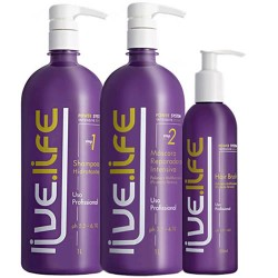 Live Life Kit Shampoo, Máscara e Finalizador Power