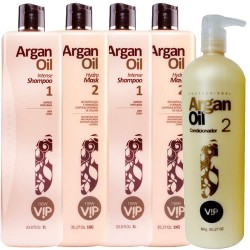 Vip Argan Oil 2 Kits Progressivas - Grátis Vip Argan Oil Condicionador 1000ml