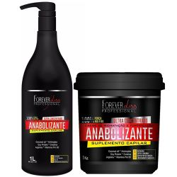 Forever Liss Anabolizante Kit Creme Hidratante + Sh