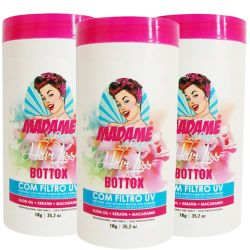 Madame Hair Kit C/3 B-tox Capilar Hair Liss Mask 1000g