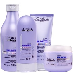 Loreal Profissional Liss Unlimited Kit com 04 Produtos