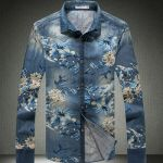 Camisa Masculina Floral Fashion Mode