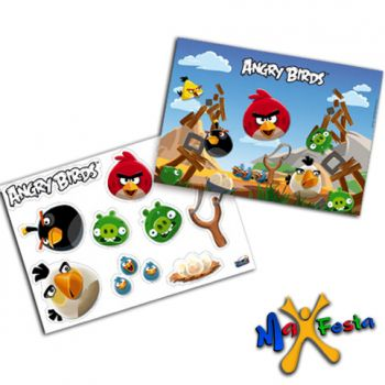 Kit Decorativo Cartonado Angry Birds